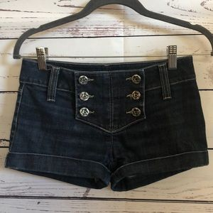 Bebe Jeans denim jean shorts with buttons